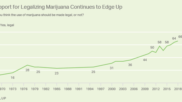 Support for Legalizing Pot Hits Record High 66%: What Will Trump Do?