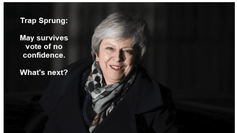 Trap Sprung: Theresa May Survives Vote of No Confidence, What's Next?