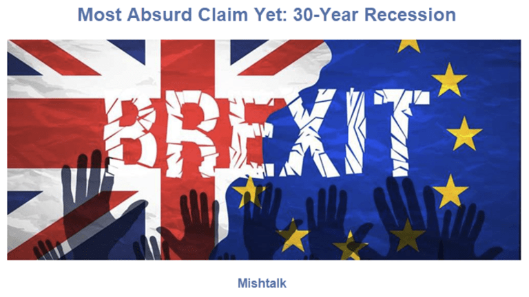 """Most Absurd Brexit Claim Ever: """"30-Year Recession, Worse Than 1930s"""""""