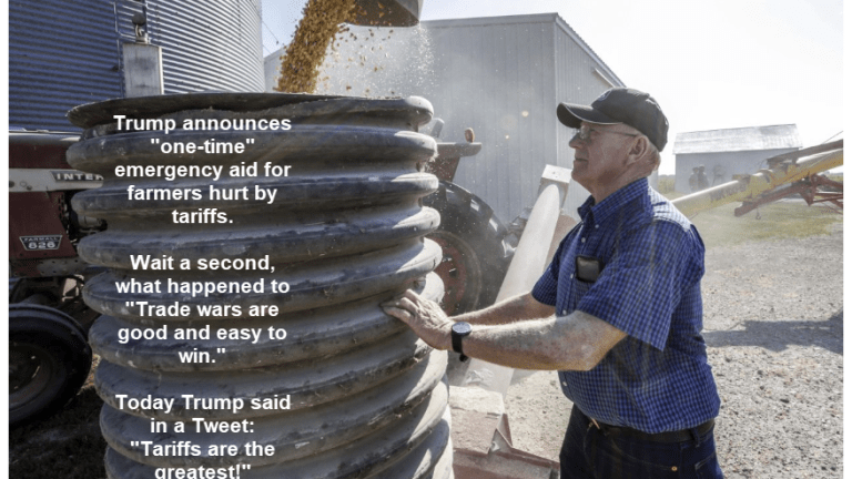 "Trump Tweets ""Tariffs are the Greatest!"" Seeks ""One-Time"" Aid to Farmers"