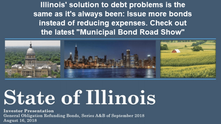 Illinois Budget Out of Balance Again: Solution More Junk Bonds