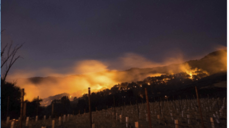 Fires Ravage 100,000 Acres in Sonoma, Napa, Yuba, Counties: Neighborhoods and Wineries Wiped Out