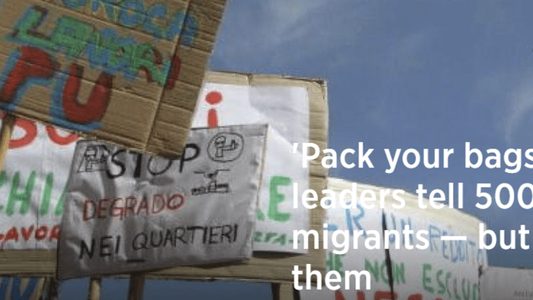 Pack Your Bags: Italy Threatens to Deport 500,000 Immigrants