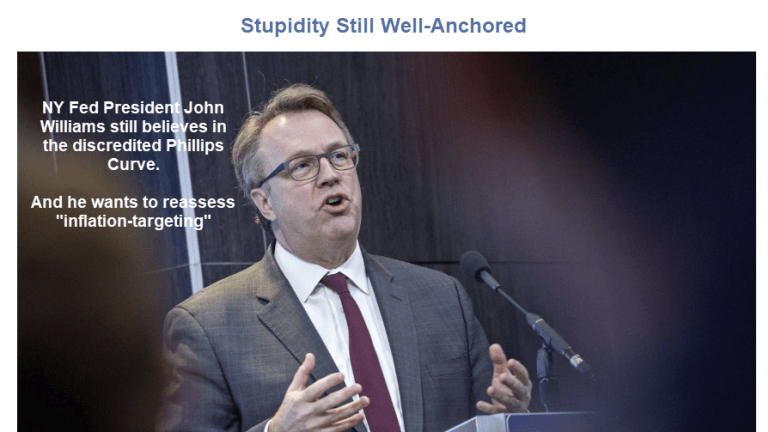 """Economic Stupidity and Fed Groupthink Remain """"Well-Anchored"""""""
