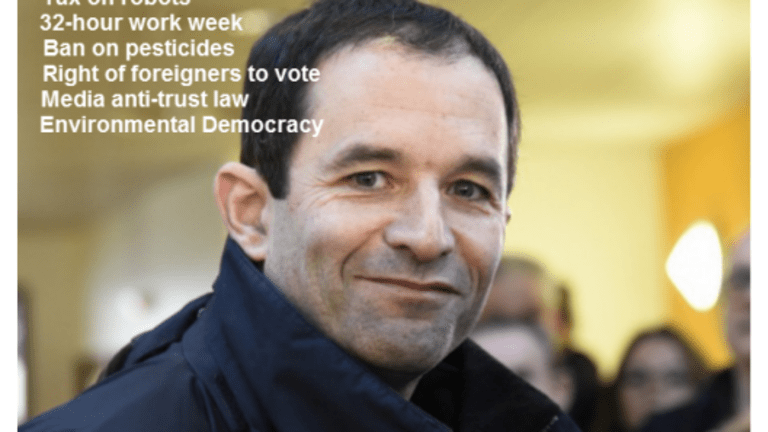French First Round Socialist Primary Winner Proposes Tax on Robots, Universal Income