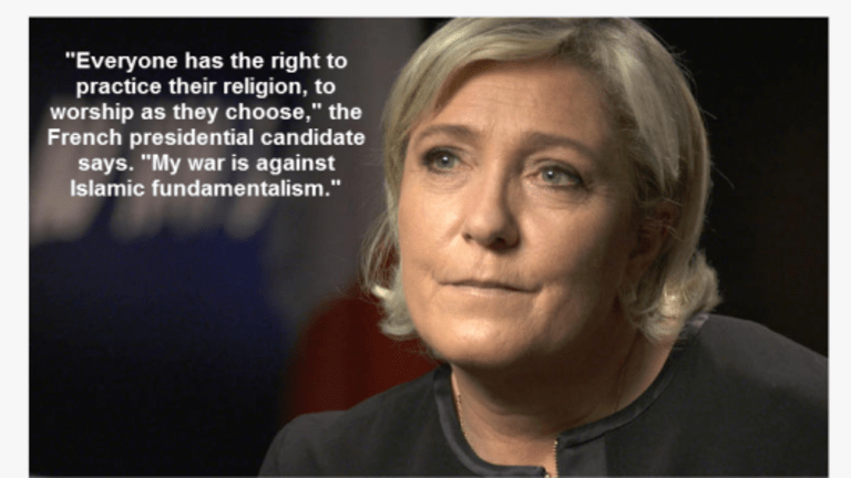 Stellar Performance by Marine Le Pen on 60 Minutes