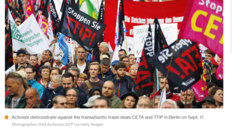 Over 300,000 Germans Protest EU Trade Deals With US and Canada