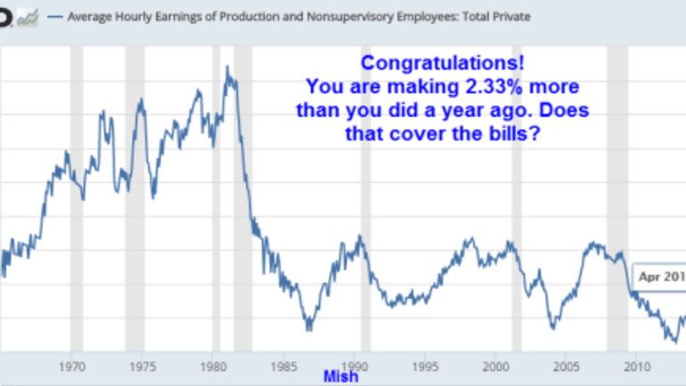 Congratulations! BLS Says You Make 2.33% More Than Last Year: Does That Cover the Bills?