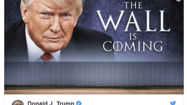 """Trump Says """"The Wall is Coming"""" Cites Progress With Pelosi on Steel Wall"""