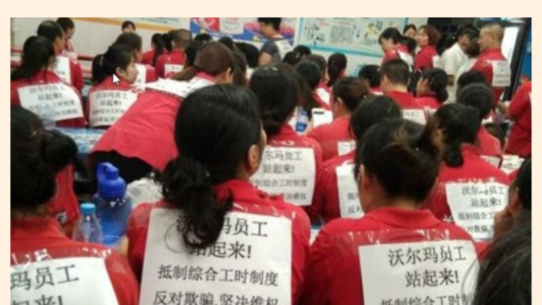 Labor Unrest in China: Workers Launch Wildcat Strikes on Walmart
