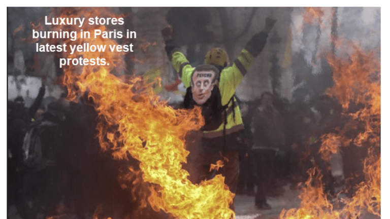 Paris Burning: Luxury Stores Looted and Burned in Latest Yellow Vest Uprising