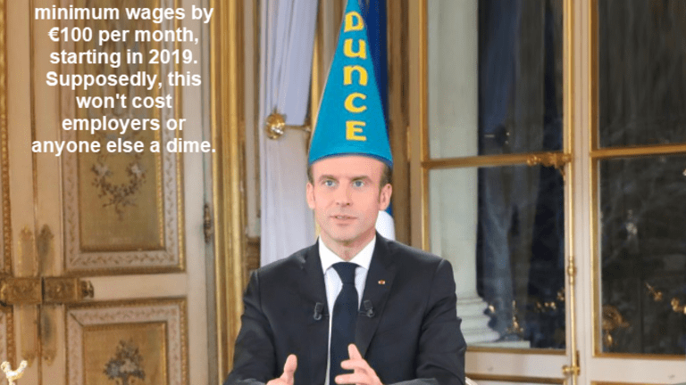 Macron Attempts to Placate Yellow Vest Protesters With Free Money