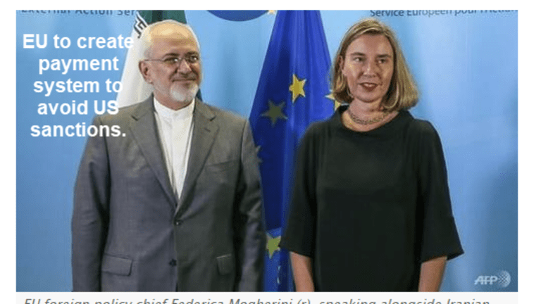 """EU Rebukes Trump, Will Create """"Special Vehicle"""" to Bypass US Sanctions on Iran"""