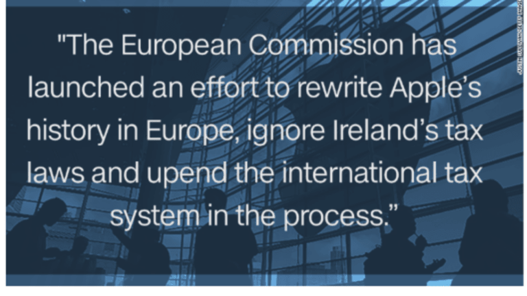 Apple Grab: How Should Ireland and US Respond to EU €13 Billion Ruling Against Apple?