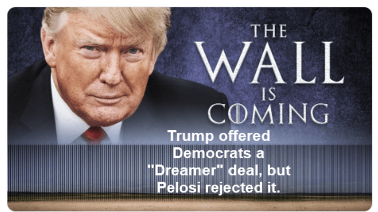 Trump Offers Democrats a Dreamer Deal in Return for the Wall
