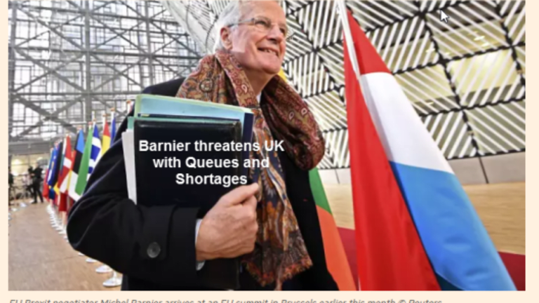 Brexit Blackmail Irony: EU Threatens UK with Queues and Shortages
