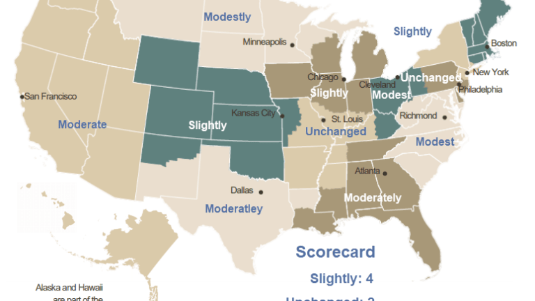 """Beige Book Shows Slight-to-Moderate Growth: Words of the Day """"Shutdown, Weather"""""""