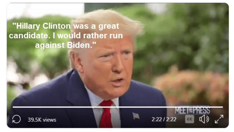 """Trump Full of Laughs: """"Hillary Clinton was a Great Candidate"""""""