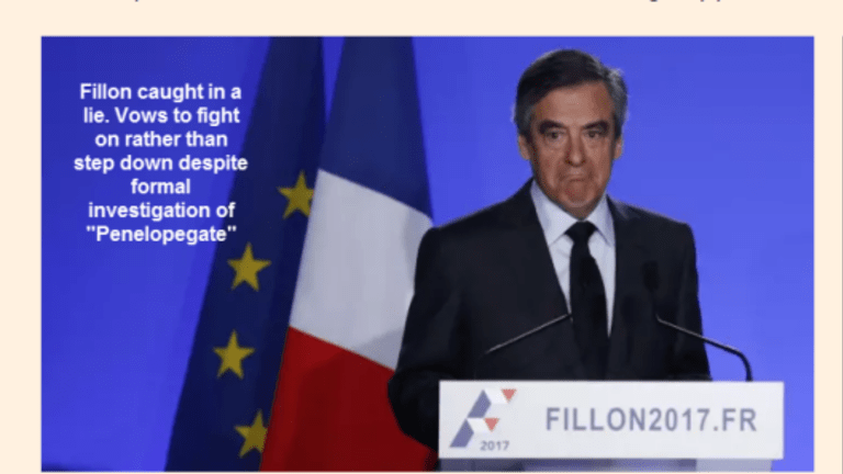Fillon Caught Lying: Under Former Investigation, Refuses to Stand Down