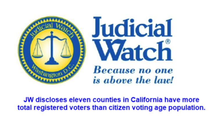 California has 11 Counties With More Registered Voters Than Voting-Age Citizens.
