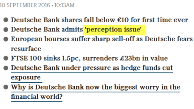Deutsche Bank: What the Hell is Going On?