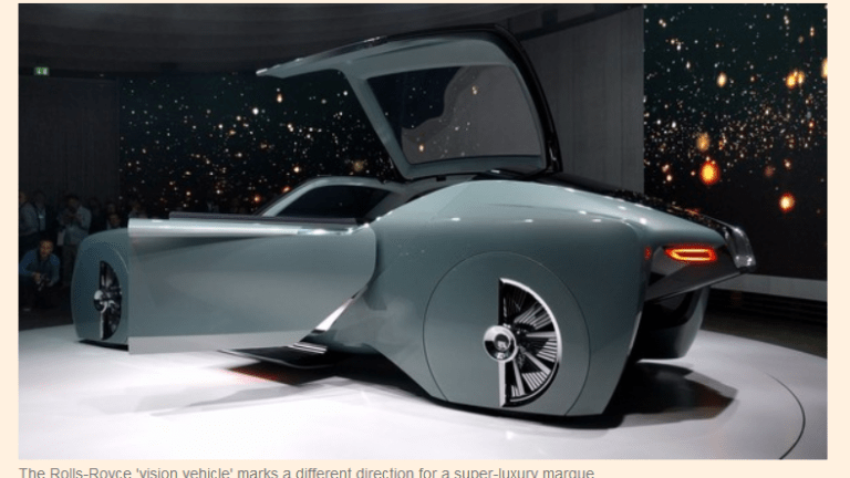 Rolls-Royce's Ridiculous Driverless Prototype Goes 3 MPH, Operated Via Cell Phone