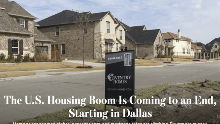 Dallas and West Coast Ground Zero for Next Housing Bust