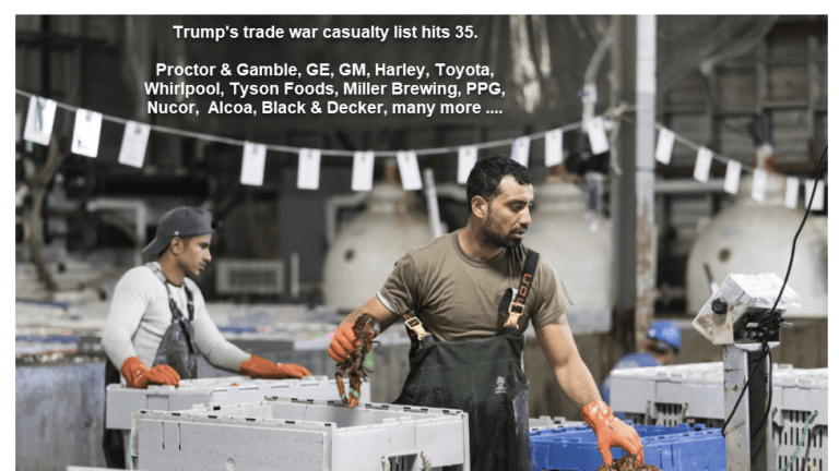 Trump's Trade War Casualty List: 35 Companies and Organizations Complain