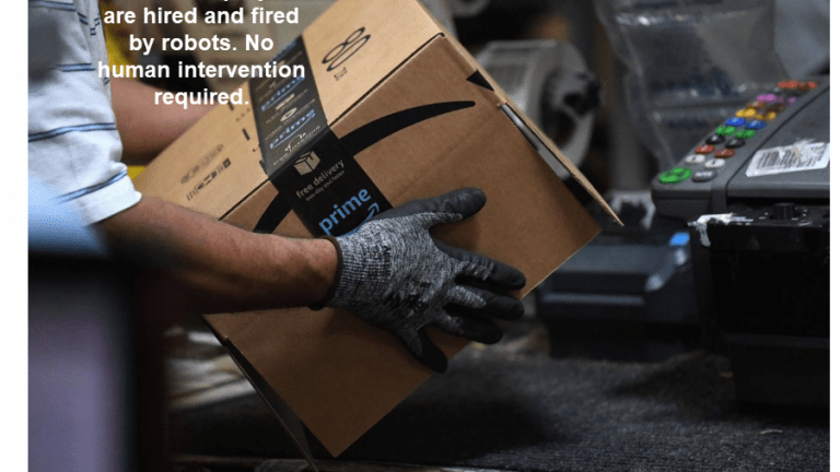 Amazon Employees Hired and Fired by Robots
