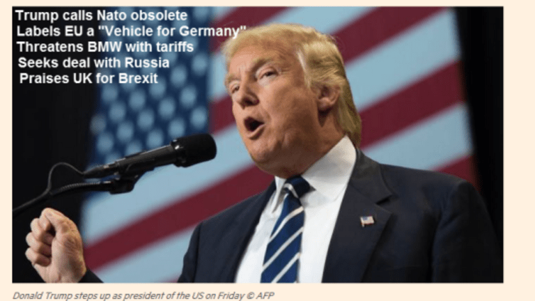 """Trump Slams NATO, Blasts EU as """"Vehicle for Germany"""", Seeks Deal With Russia, Threatens BMW"""