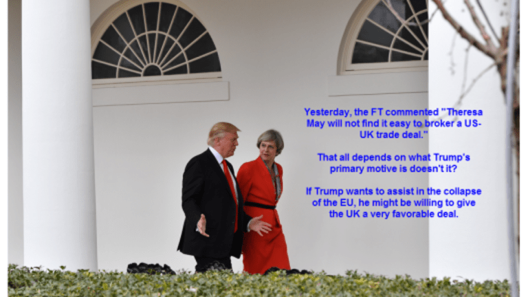 US UK Trade Talks to Begin Immediately In Defiance of EU Rules: What's Trump Up To?