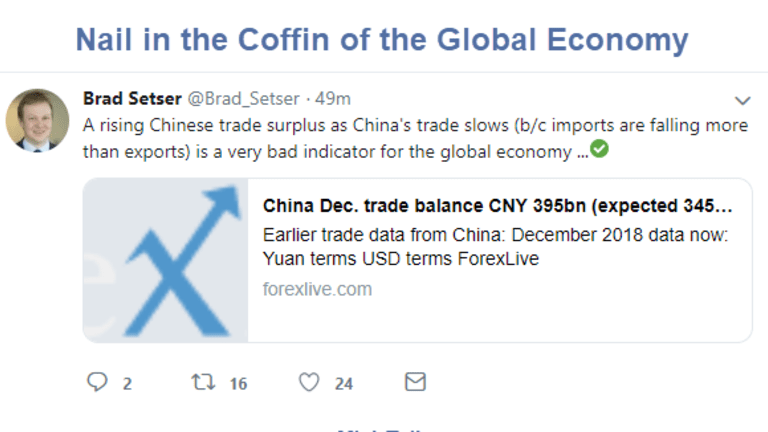 China Trade Data is Nail in the Coffin of Global Economy