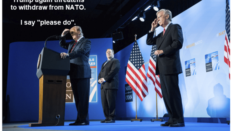 Trump Again Threatens to Leave NATO (That's a Good Thing)
