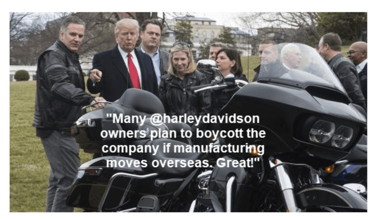 Trump Encourages People to Boycott Harley: Dealer and Rider Reactions