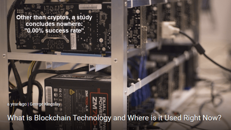 Where is Blockchain Really Used? Nowhere! Study Shows 0% Success Rate