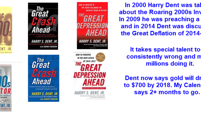 """Harry Dent Warns of  """"$700 Gold by 2018"""""""