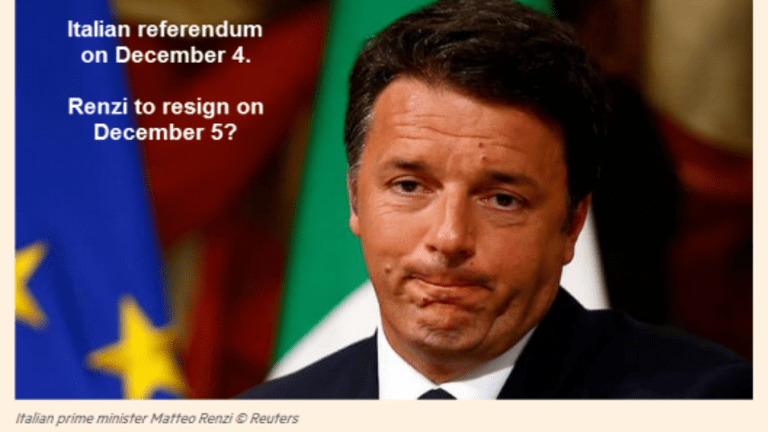 End of Euro in Italy: Renzi Faces Three Opposition Parties, All Rabidly Anti-Euro