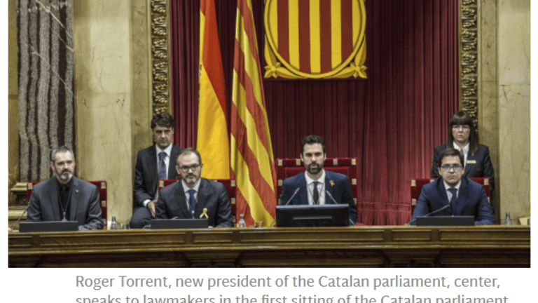 Rajoy Slapped in the Face: Catalonia Elects Pro-Independence Speaker