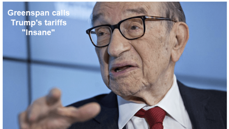 """Greenspan Says Trump's Tariffs are """"Insane"""" and He's Right"""