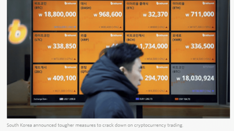 South Korea Cracks Down on Bitcoin, Considers Shutting Down Exchanges