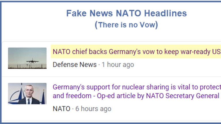 Beginning of the End of German Support for NATO