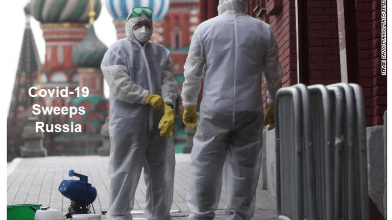 Russia Now Second After US in Covid-19 Cases