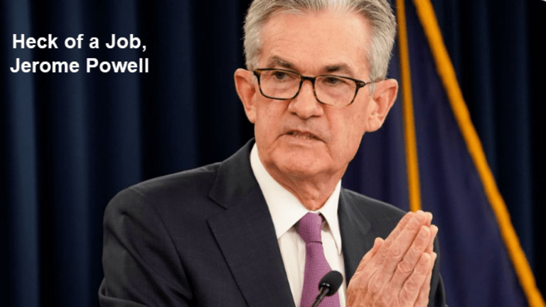 Tweets of the Day: Heck of a Job Jerome Powell
