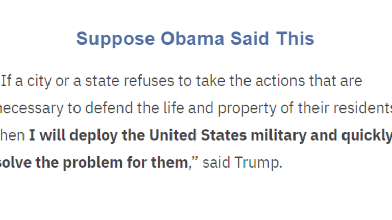 If Obama Said What Trump Just Did, Would You Support It?