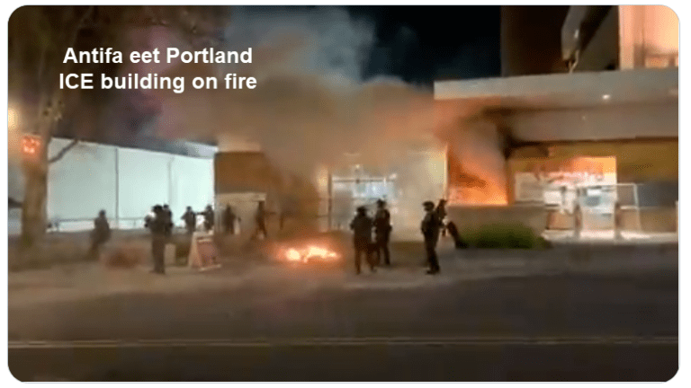 Portland ICE Building Set on Fire by Antifa, Where is the Media Coverage?
