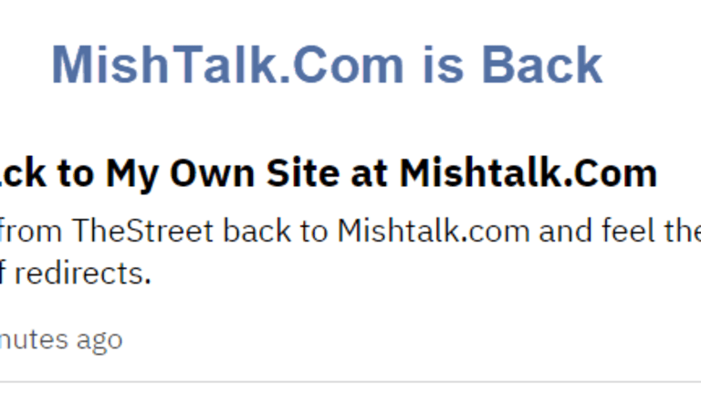 Moving Back to My Own Site at Mishtalk.Com