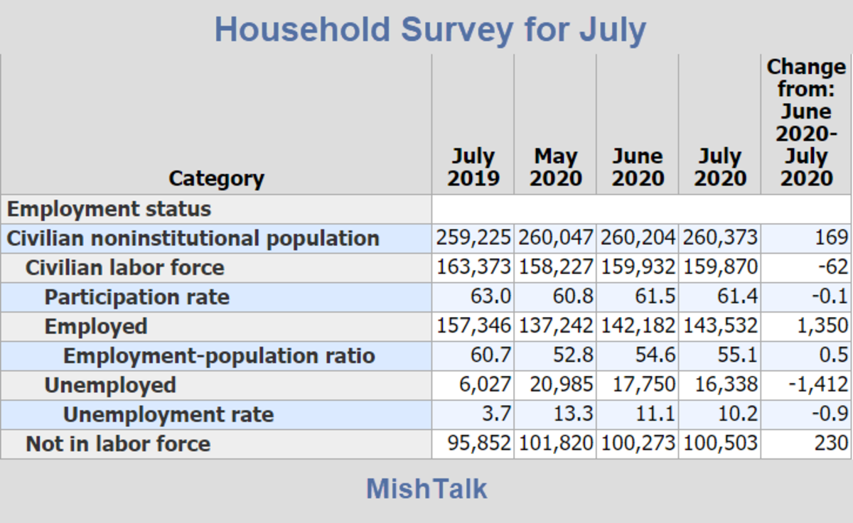 Household Survey for July 2020