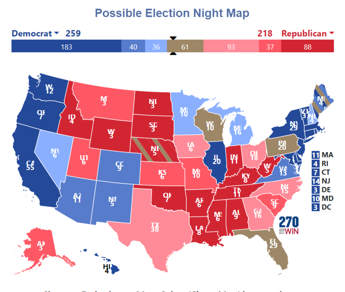 Possible Election Night Map