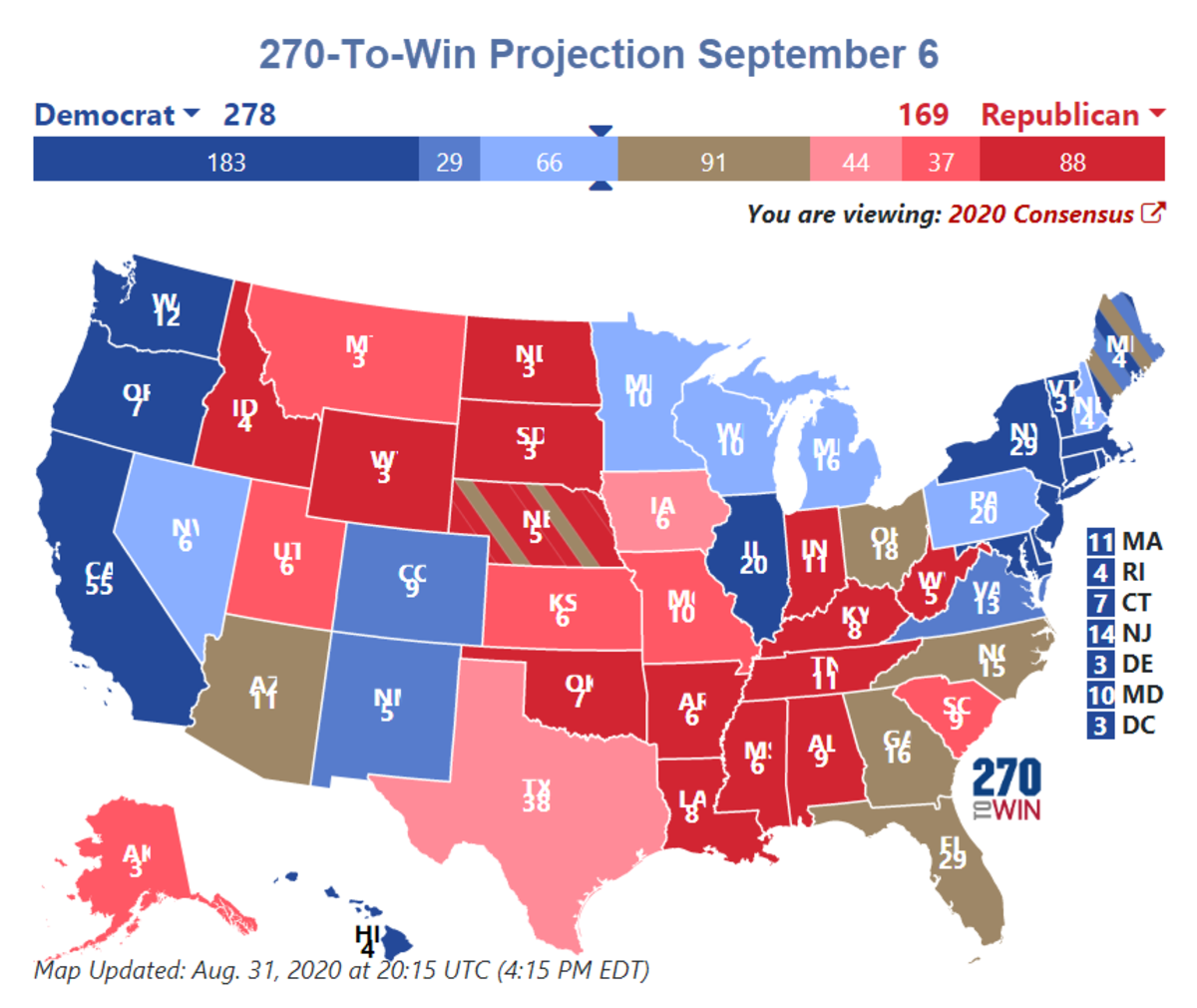 270-To-Win Projection September 6
