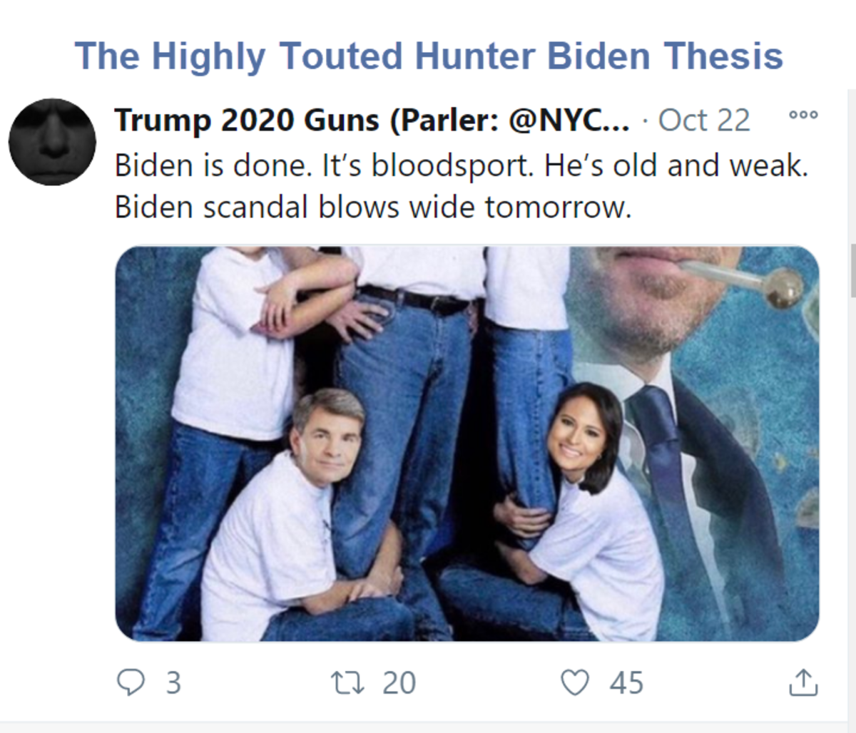 The Highly Touted Hunter Biden Thesis